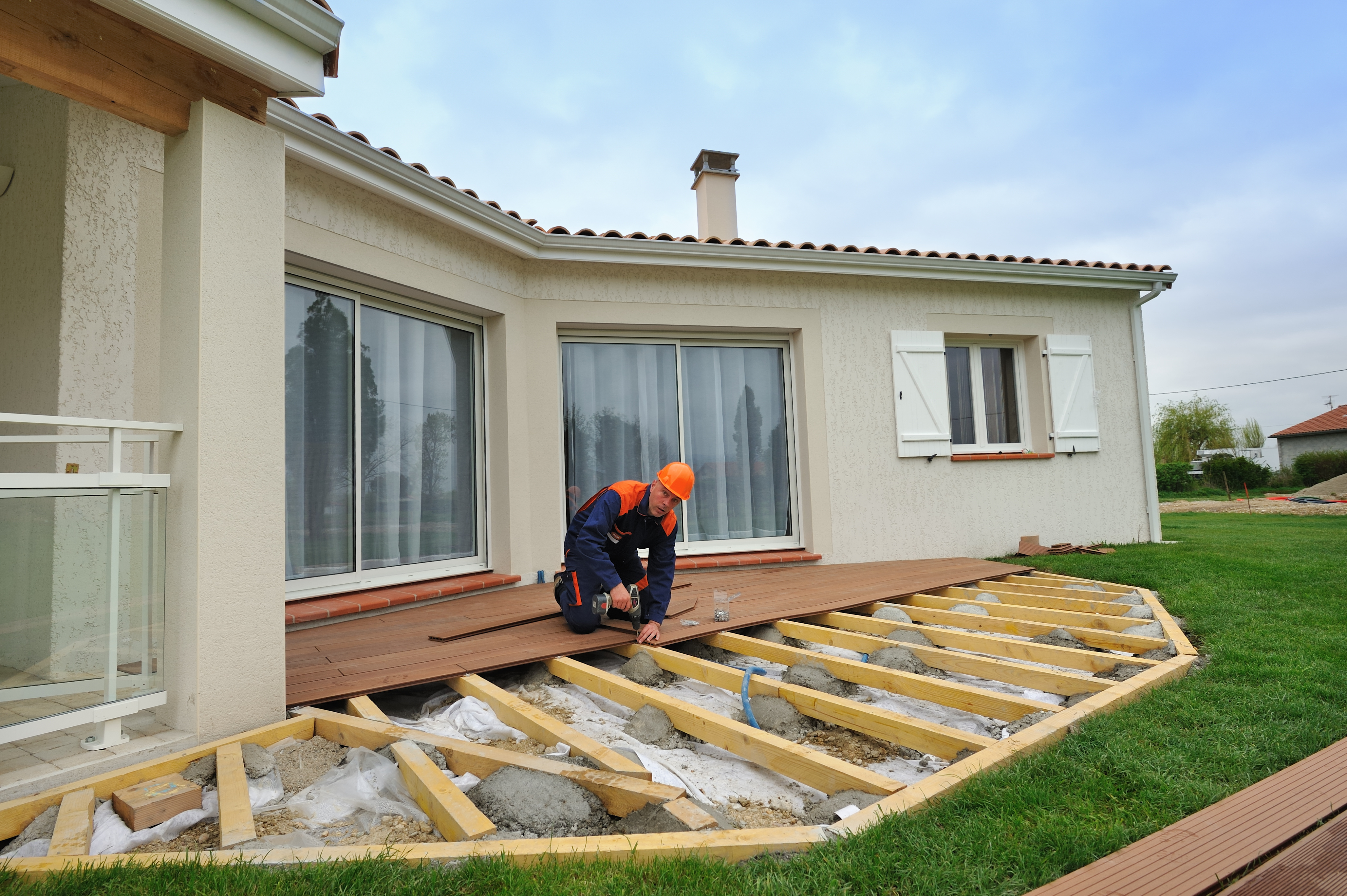 holz terrassendielen unterkonstruktion