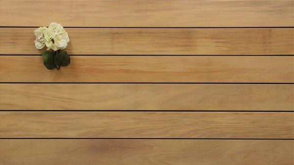 Angebot des Monats, Garapa Holz Dielen für die Terrasse, 8,40 €/lfm, Premium (KD) glatt, 21 x 145 bis 6100 mm, Terrassendielen Bretter