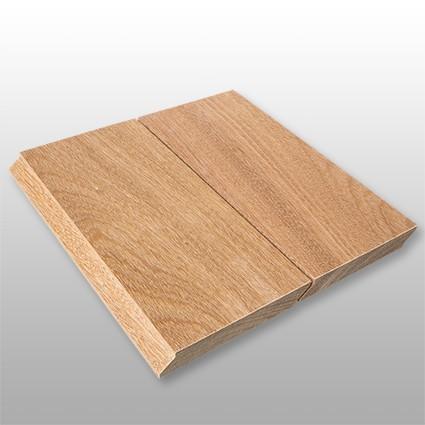 Cumaru braun Holz Dielen für die Terrasse, 8,90 €/lfm, Premium (KD) glatt, mit Wechselfalz und stirnseitig Nut / Feder Verbindung, 21 x 125 bis 2750 mm, Terrassendielen Bretter