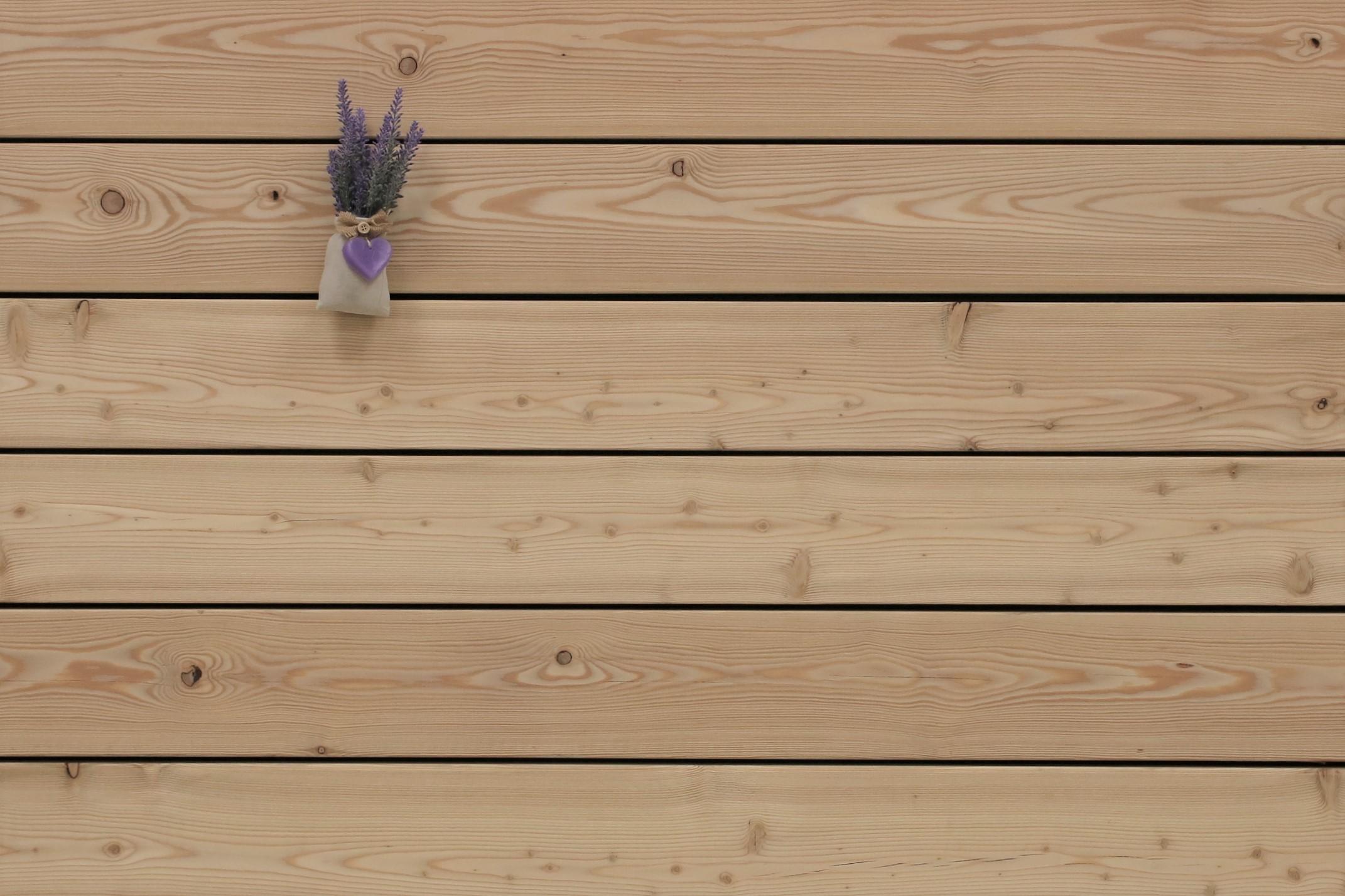Angebot des Monats, Terrassendielen Sibirische Lärche, AB Sortierung, 27 x 143 bis 6000 mm, glatt für 3,80 €/lfm