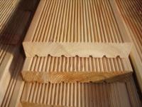 Sibirische Lärche Holz Dielen für die Terrasse, 7,40 €/lfm, fein gerillt, 45 x 142 bis 6000 mm, Terrassendielen Bretter