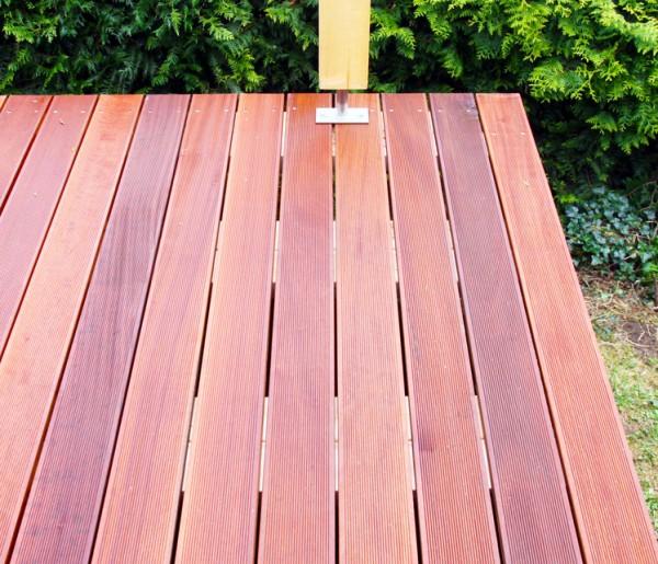 Massaranduba Holz Dielen für die Terrasse, 8,90 €/lfm, Premium (KD) fein gerillt, 25 x 145 bis 6100 mm, Terrassendielen Bretter