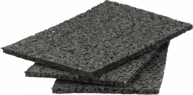 50 Stück Gummigranulat ca. 3 x 40 x 80 mm ausreichend für ca. 12-25 Laufmeter Unterkonstruktion