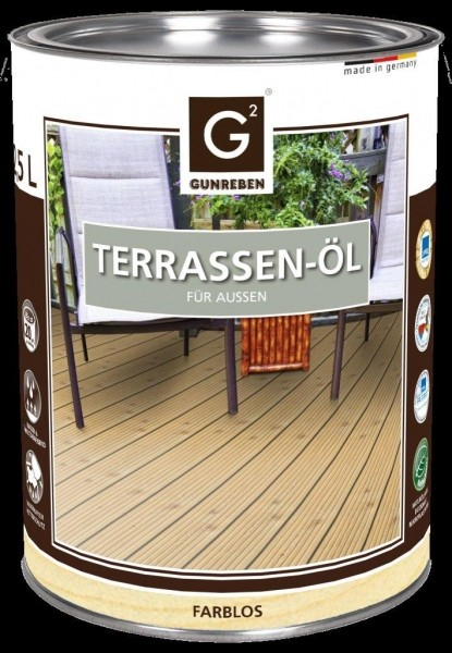 Gunreben Natur Öl, Kanister mit 2,5 Liter Terrassenöl, ausreichend für ca. 20-25 m²