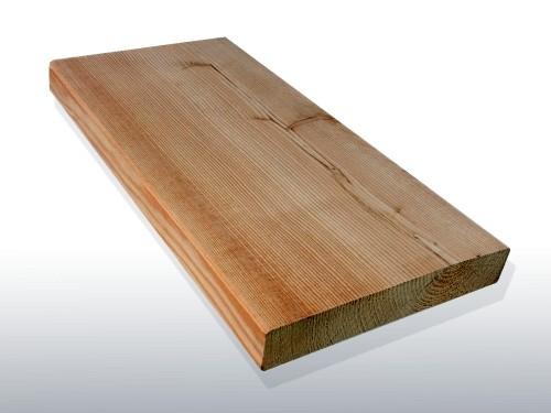 Sibirische Lärche Holz Dielen für die Terrasse, AB Sortierung, 7,40 €/lfm, glatt, 45 x 142 bis 6000 mm, Terrassendielen Bretter