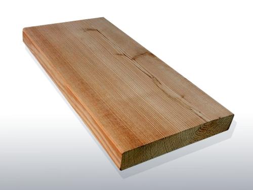 Sibirische Lärche Holz Dielen für die Terrasse, AB Sortierung, 6,40 €/lfm, glatt, 40 x 142 bis 6000 mm, Terrassendielen Bretter