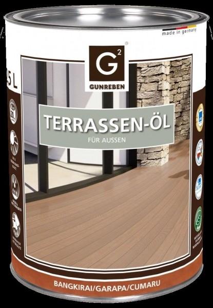 Gunreben Bangkirai Öl, Kanister mit 2,5 Liter Terrassenöl, ausreichend für ca. 20-25 m²