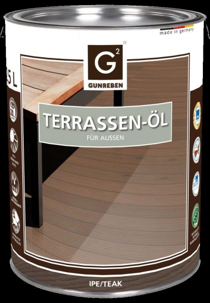 Gunreben Ipe Öl, Kanister mit 2,5 Liter Terrassenöl, ausreichend für ca. 20-25 m²