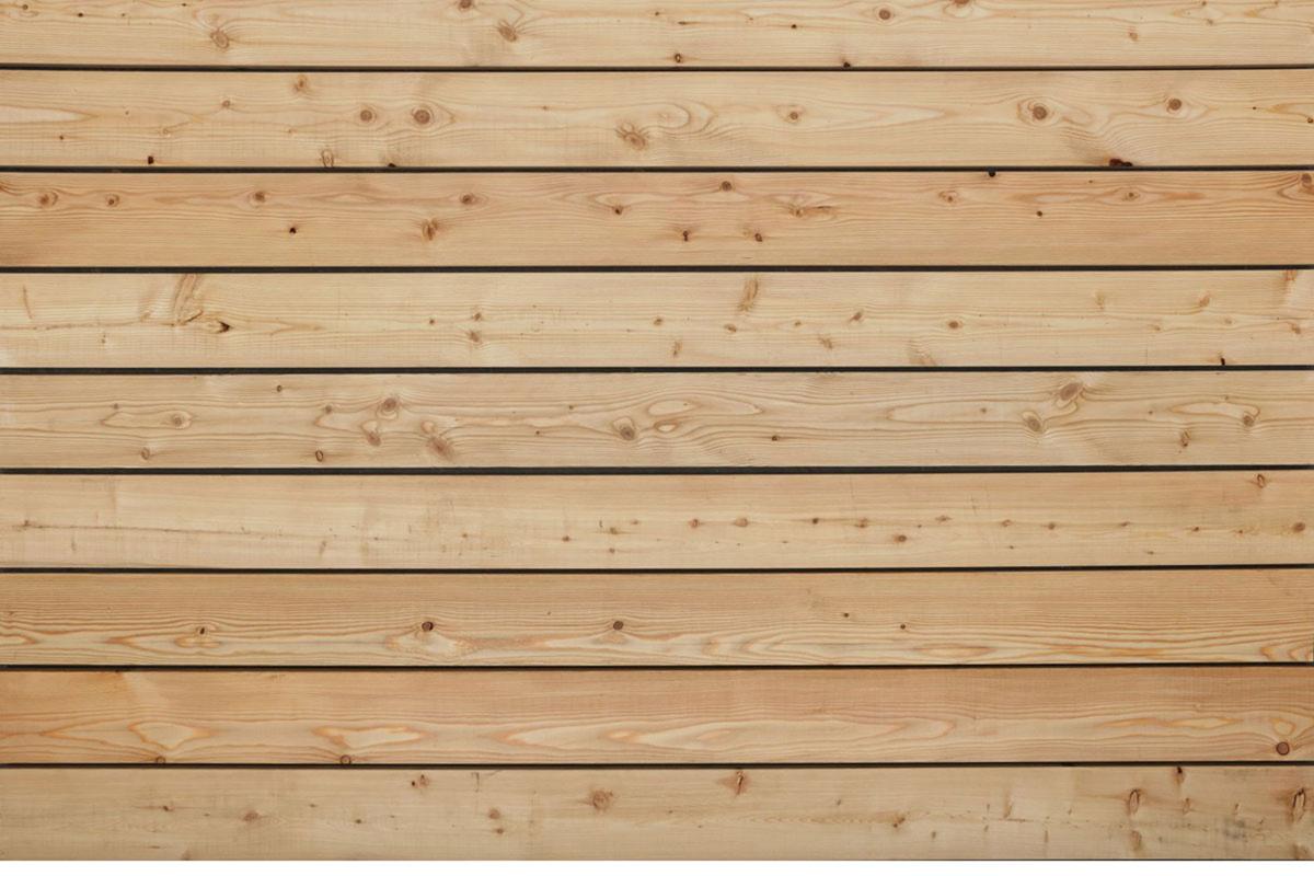 Sibirische Lärche Terrassendielen, glatt, AB Sortierung, 45 x 143 bis 6000 mm für 6,90 €/lfm