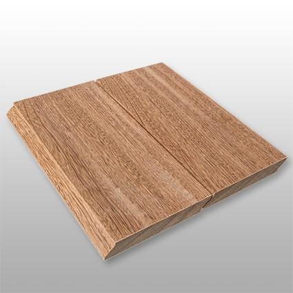 Cumaru red Holz Dielen für die Terrasse, 8,90 €/lfm, Premium (KD) glatt, mit Wechselfalz und stirnseitig Nut / Feder Verbindung, 21 x 125 bis 2750 mm, Terrassendielen Bretter