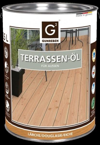 Gunreben Lärchen Öl, Kanister mit 2,5 Liter Terrassenöl, ausreichend für ca. 20-25 m²