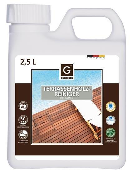 Gunreben Terrassenholzreiniger, Kanister mit 2,5 Liter, ausreichend für ca. 20-80 m²