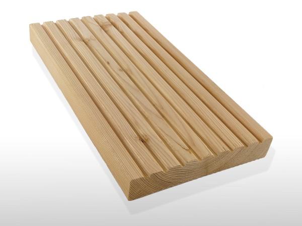 Sibirische Lärche Holz Dielen für die Terrasse, AB Sortierung, 3,70 €/lfm, grob genutet, 26 x 143 bis 6000 mm, Terrassendielen Bretter